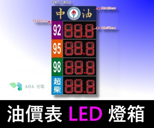 油價表LED燈箱/價格表看板-2