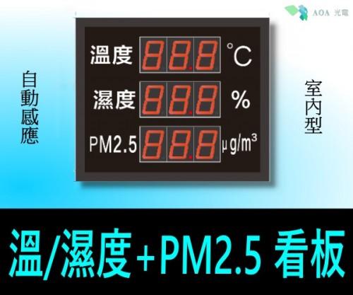 工商專用LED溫度/濕度+PM2.5燈箱